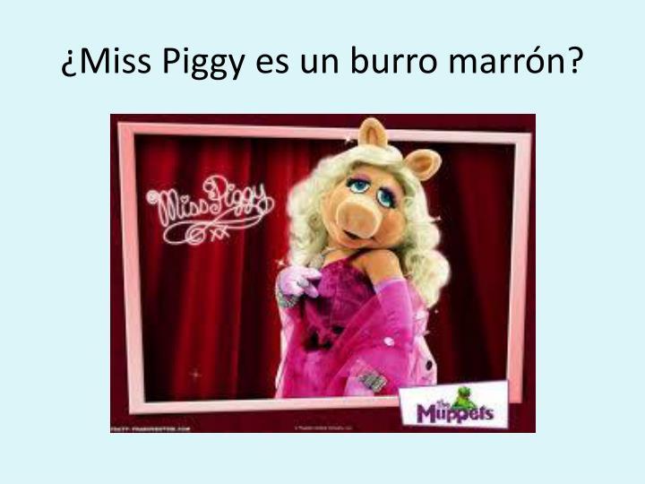 ¿Miss Piggy