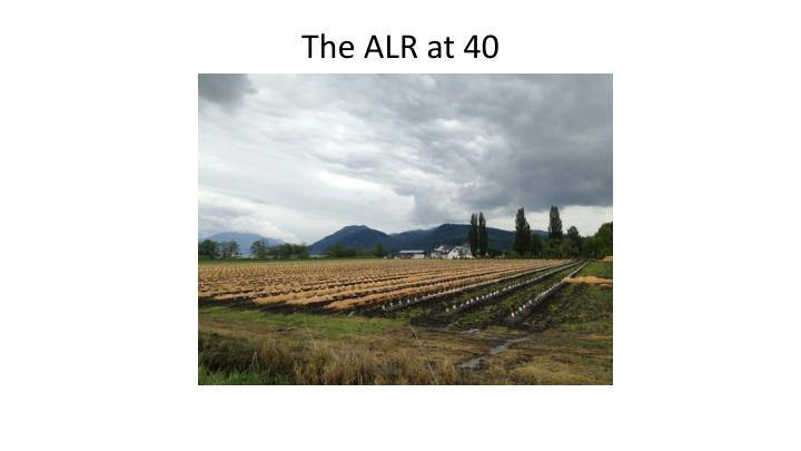 the alr at 40 n.