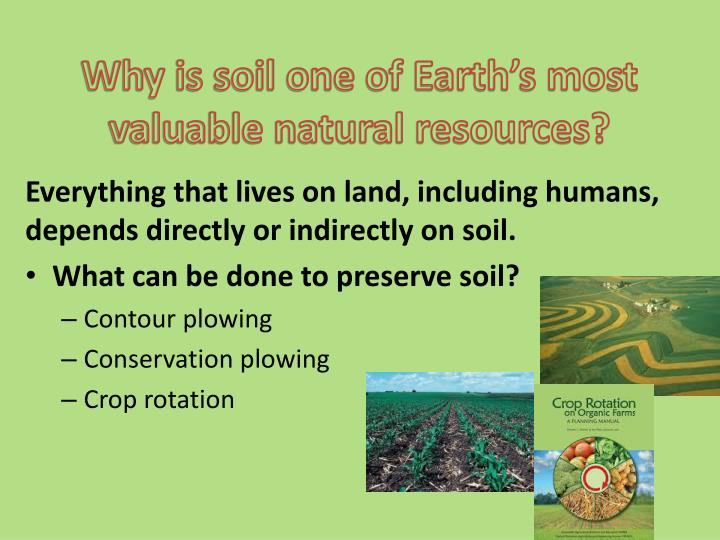 Why is soil one of Earth's most valuable natural resources?