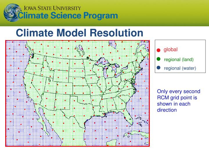 Climate Model Resolution