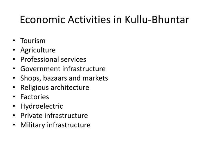 Economic Activities in