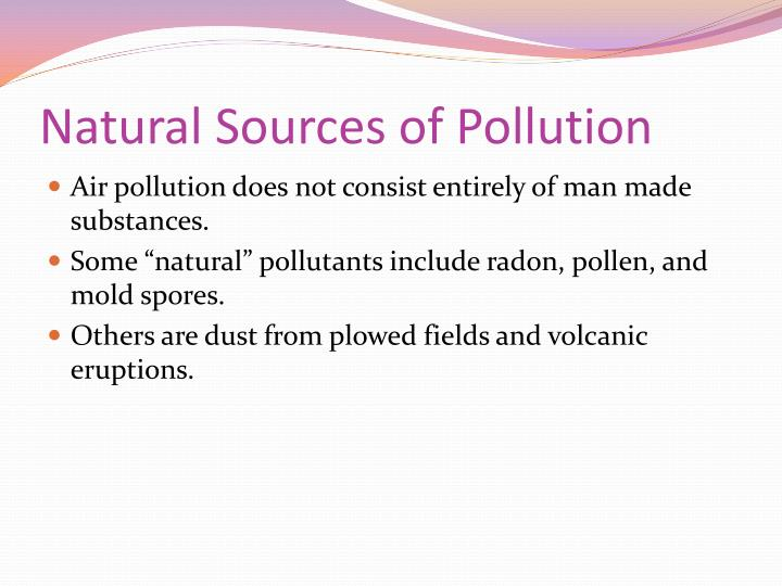 Natural Sources of Pollution