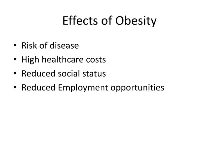 Effects of Obesity