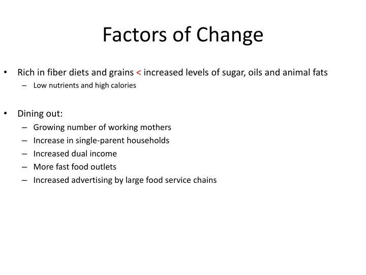 Factors of Change