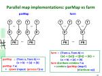 parallel map implementations parmap vs farm