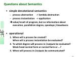questions about semantics