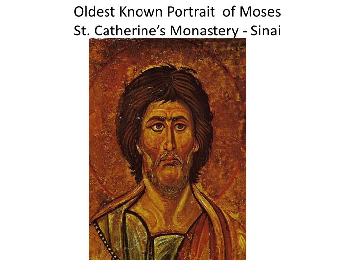 oldest known portrait of moses st catherine s monastery sinai n.