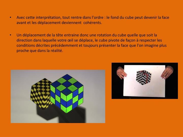 Avec cette interprétation, tout rentre dans l'ordre : le fond du cube peut devenir la face avant et les déplacement deviennent  cohérents.