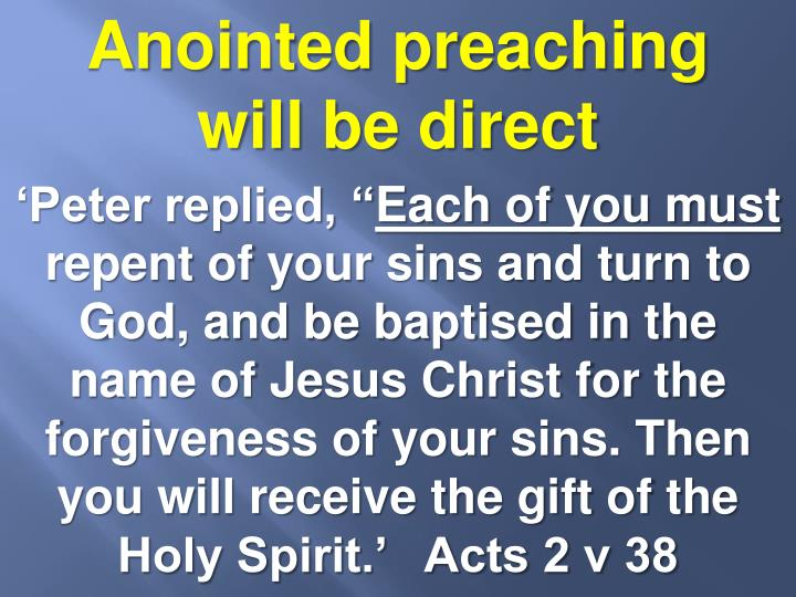Anointed preaching