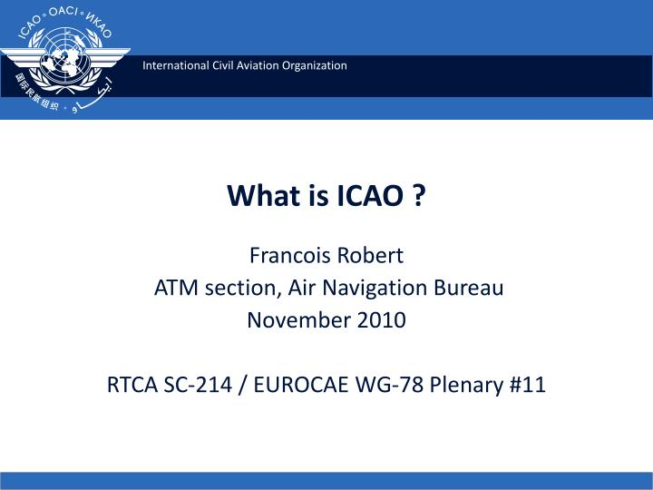 what is icao n.
