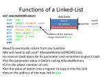 functions of a linked list