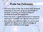probe set definitions