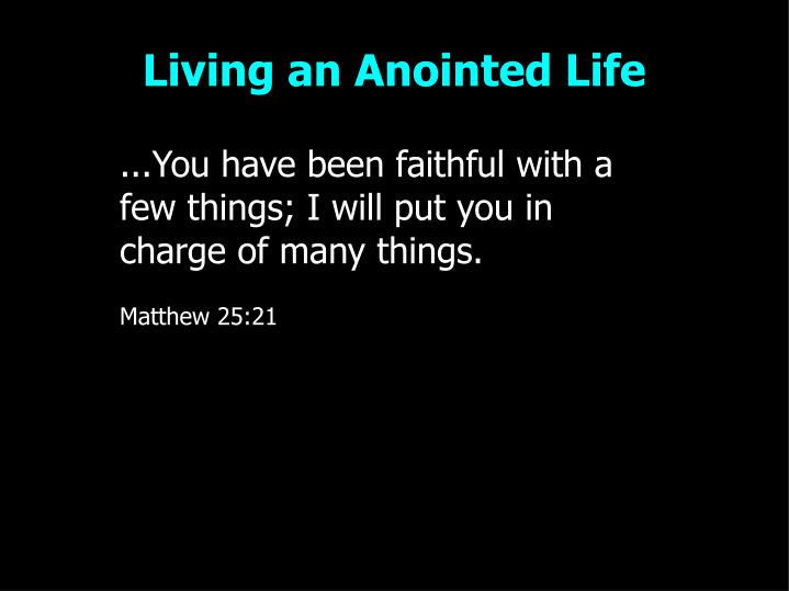 Living an anointed life2