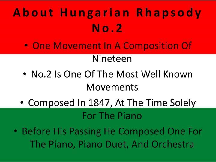 About Hungarian Rhapsody No.2
