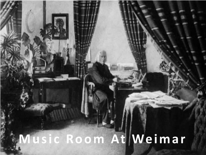 Music Room At Weimar