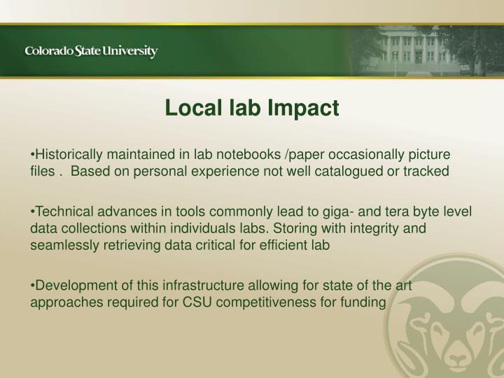 Local lab Impact