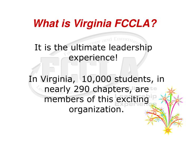 What is Virginia FCCLA?