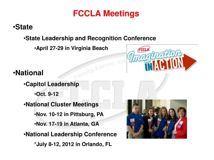 FCCLA Meetings