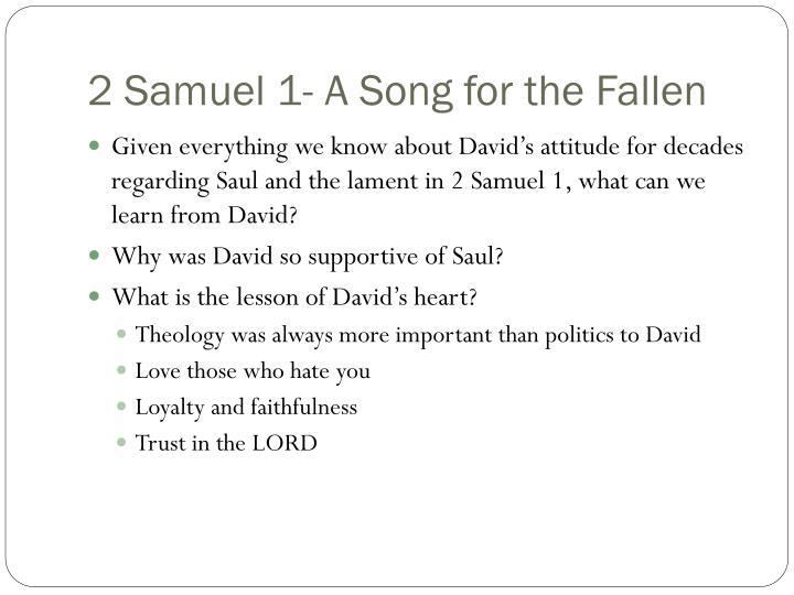 2 Samuel 1- A Song for the Fallen