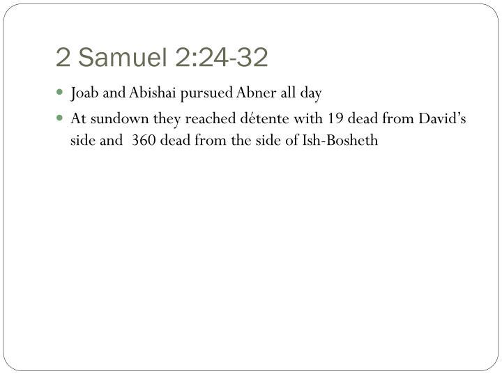 2 Samuel 2:24-32