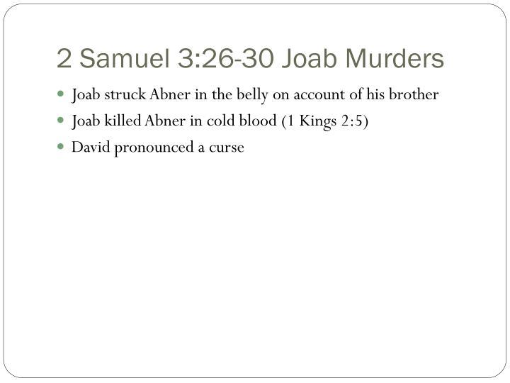 2 Samuel 3:26-30