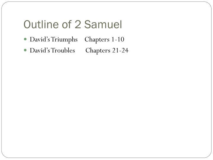 Outline of 2 Samuel