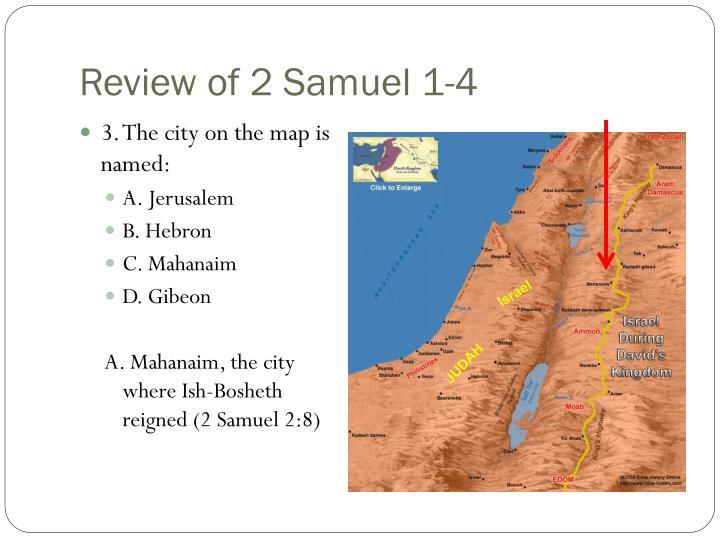 Review of 2 Samuel 1-4