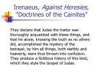 irenaeus against heresies doctrines of the cainites1