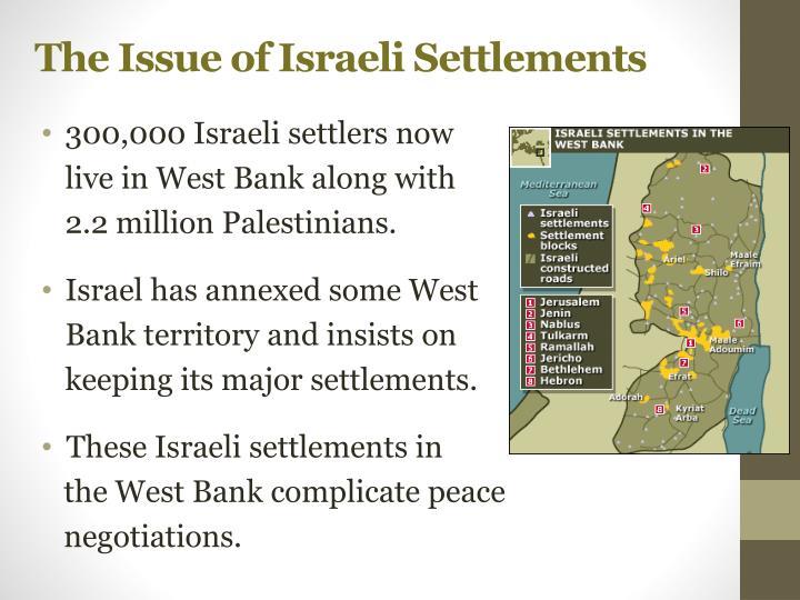 The Issue of Israeli Settlements