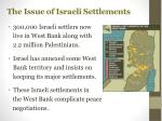 the issue of israeli settlements