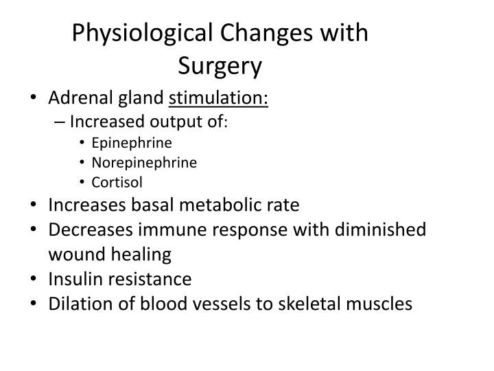Physiological Changes with Surgery