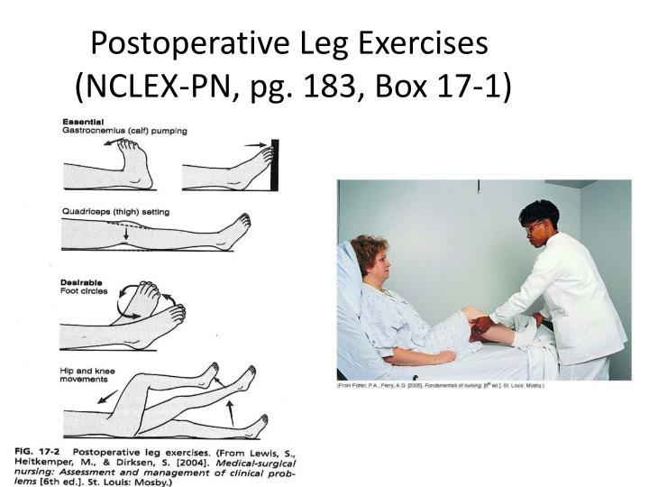 Postoperative Leg Exercises
