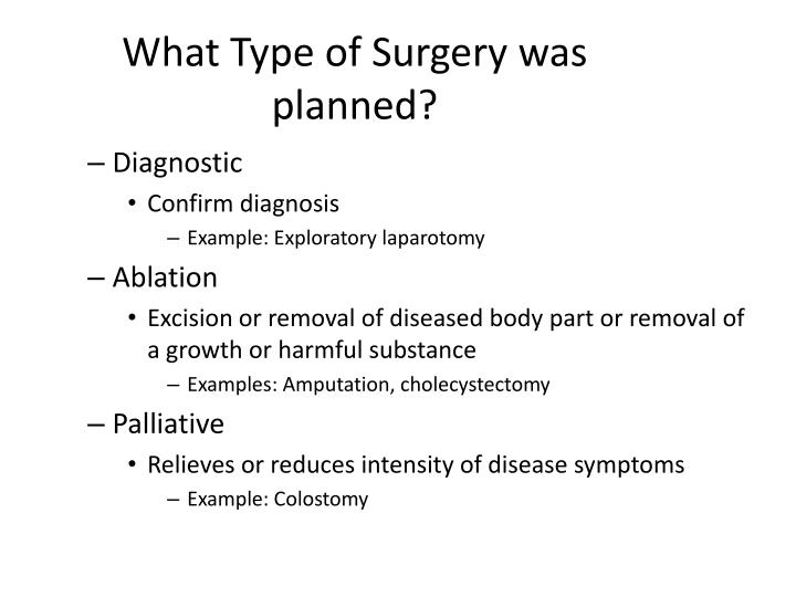 What Type of Surgery was planned?