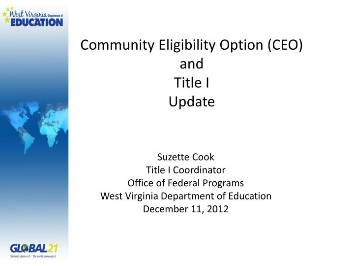 community eligibility option ceo and title i update n.