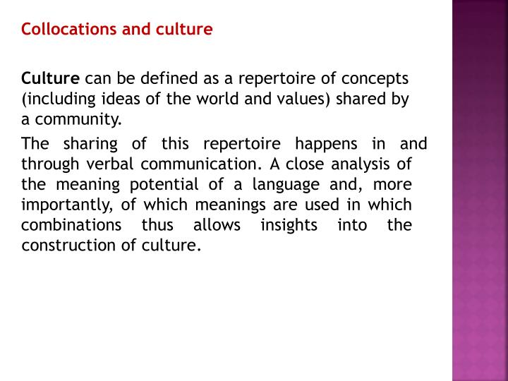 Collocations and culture