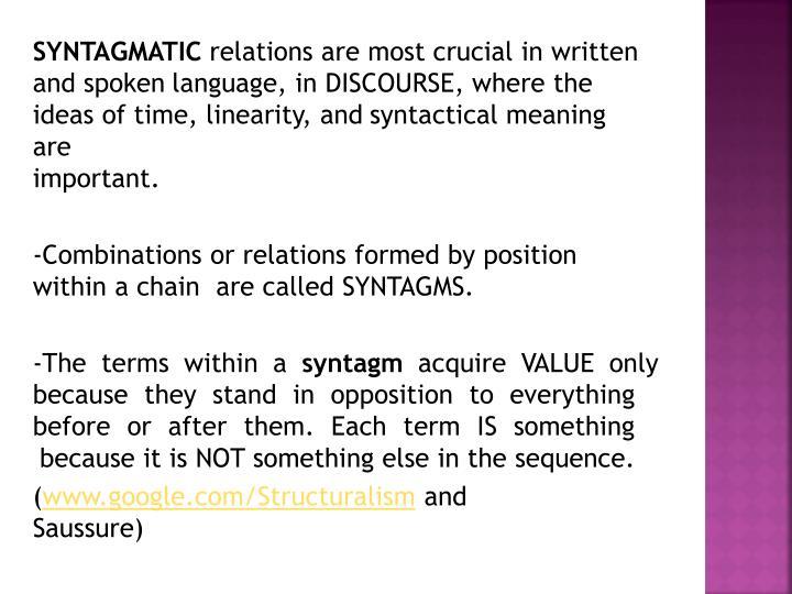SYNTAGMATIC