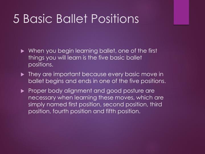 5 Basic Ballet Positions