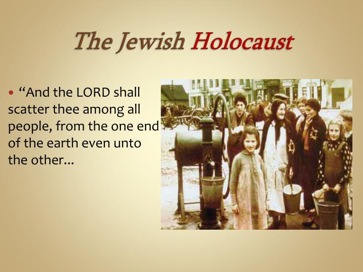 """""""And the LORD shall scatter thee among all people, from the one end of the earth even unto the other..."""