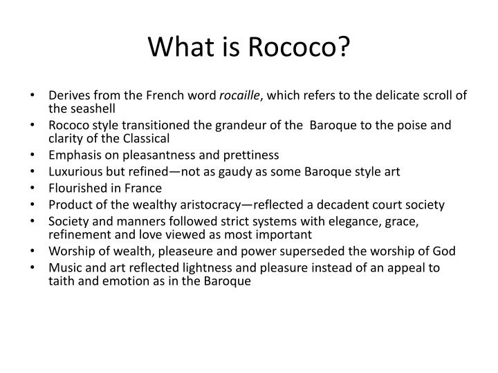 Ppt the rococo period powerpoint presentation id 1922201 for What is the other name for the rococo style