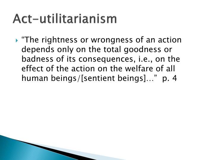 Act-utilitarianism