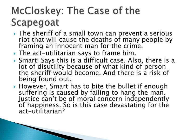 McCloskey: The Case of the Scapegoat