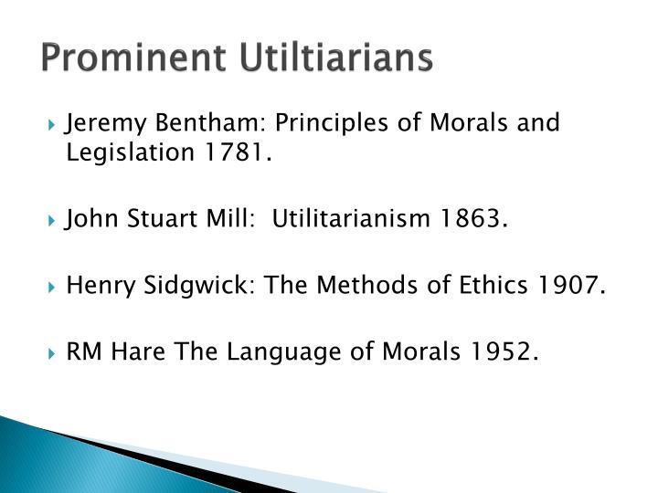 Prominent utiltiarians