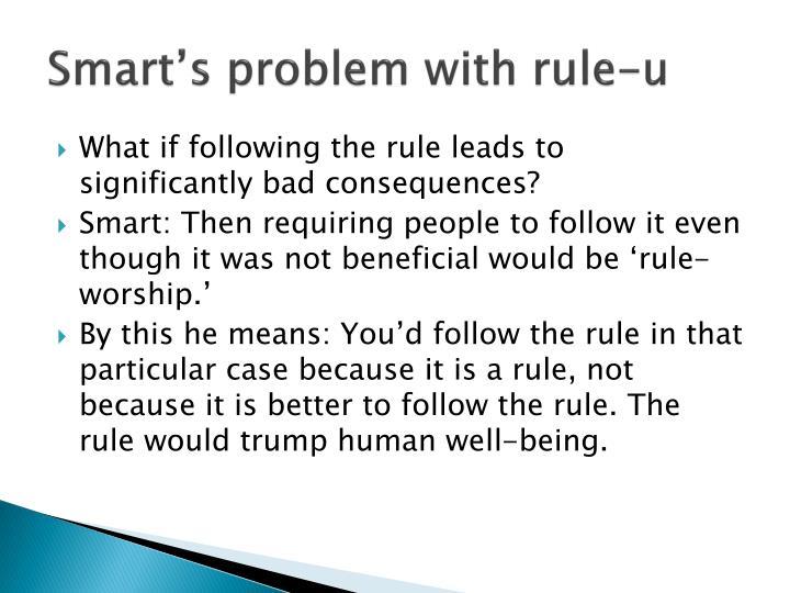Smart's problem with rule-u