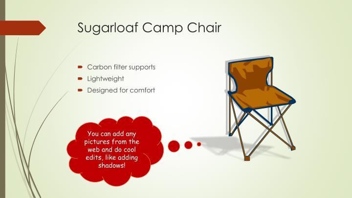 Sugarloaf camp chair