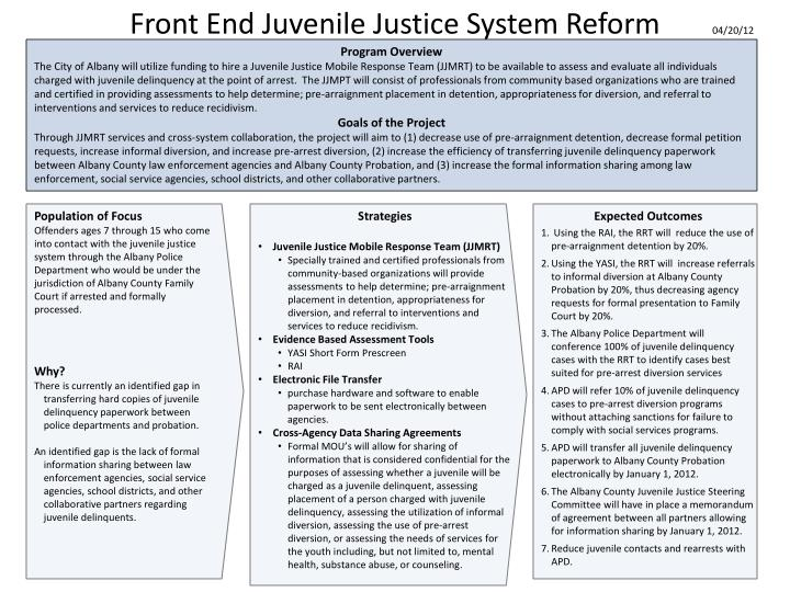 an analysis of juvenile justice 2018-07-17  purpose to establish a data analysis source to serve the critical information needs of the juvenile justice community and assist the office of juvenile justice and delinquency prevention (ojjdp) in fulfilling its.