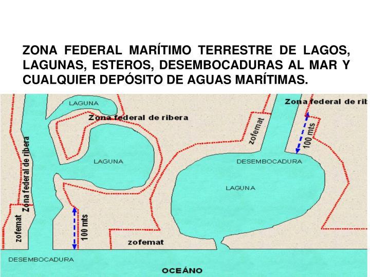 ZONA FEDERAL MARÍTIMO TERRESTRE DE LAGOS, LAGUNAS, ESTEROS, DESEMBOCADURAS AL MAR Y CUALQUIER DEPÓSITO DE AGUAS MARÍTIMAS.