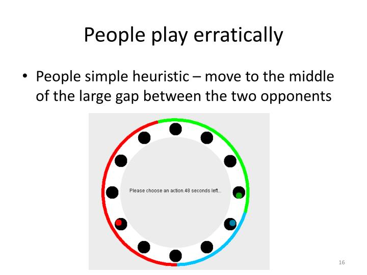 People play erratically