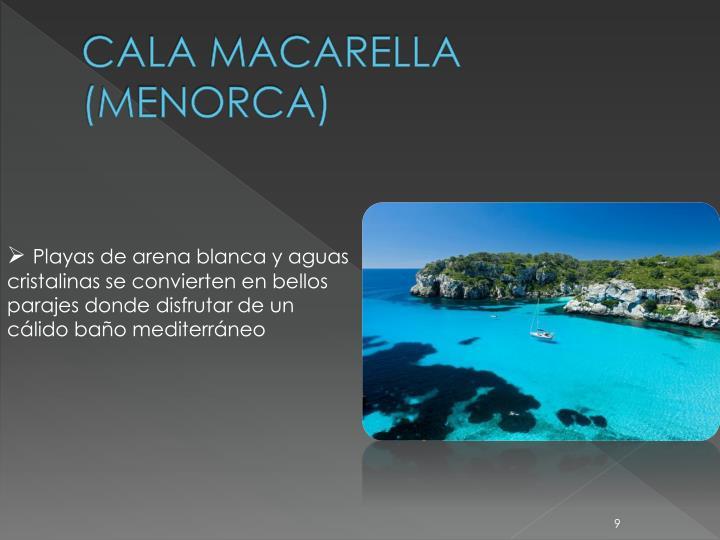 CALA MACARELLA (MENORCA)