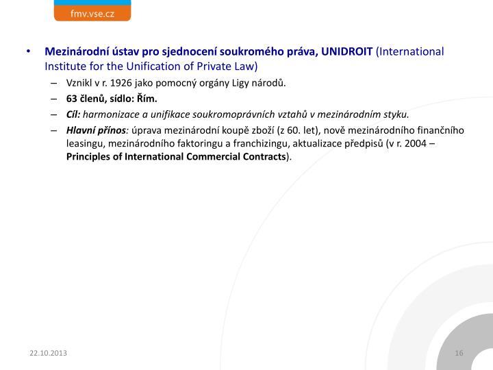 Mezinárodní ústav pro sjednocení soukromého