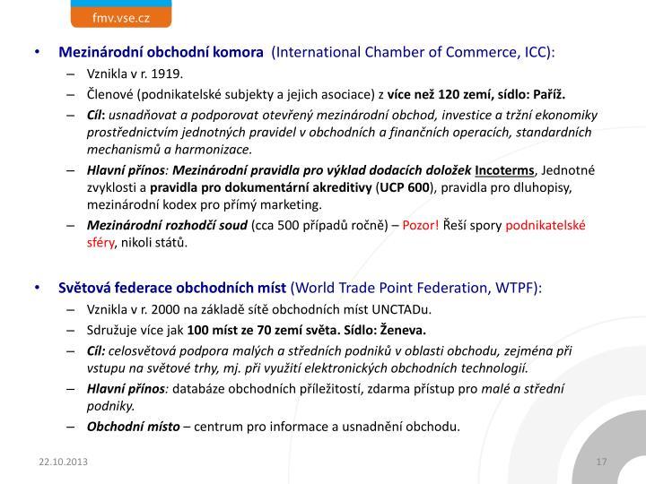 Mezinárodní obchodní komora